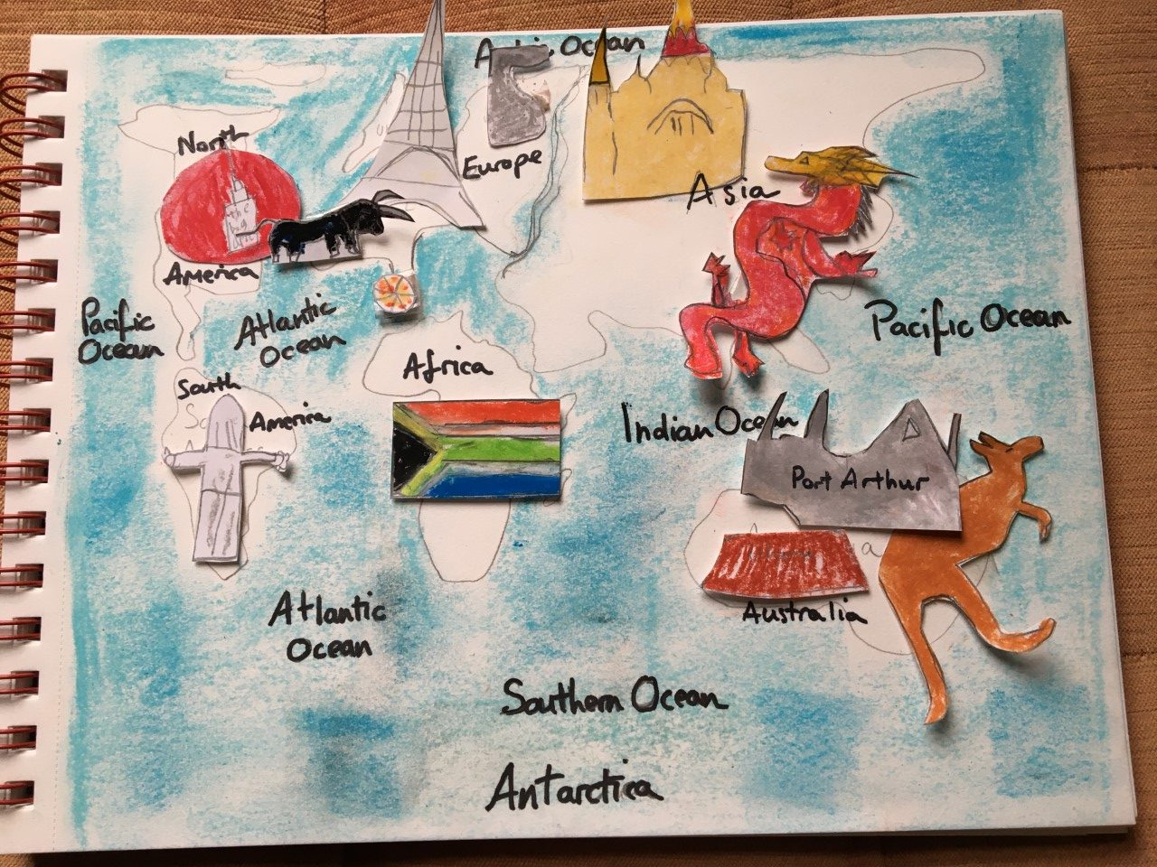 Oliver's illustrative world map 6Br